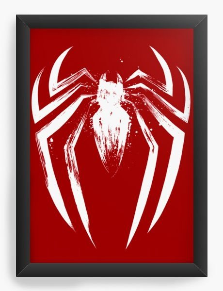 Quadro Decorativo A3 (45X33)  Red Man - Loja Nerd e Geek - Presentes Criativos