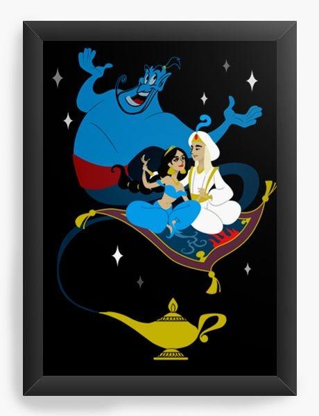 Quadro Decorativo A3 (45X33) Geekz Aladino - Loja Nerd e Geek - Presentes Criativos