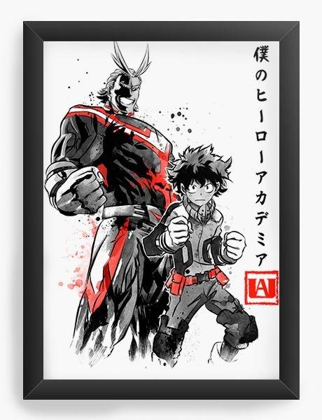 Quadro Decorativo A3 (45X33) Geekz Boku no Hero Academia   - Loja Nerd e Geek - Presentes Criativos