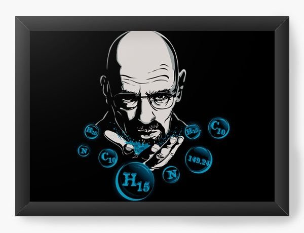 Quadro Decorativo A3 (45X33) Geekz Breaking Bad - Loja Nerd e Geek - Presentes Criativos