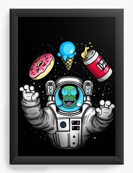 Quadro Decorativo A3 (45X33) Geekz Homer Simpsons Space - Loja Nerd e Geek - Presentes Criativos