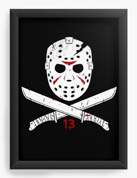 Quadro Decorativo A3 (45X33) Geekz Jason - Loja Nerd e Geek - Presentes Criativos