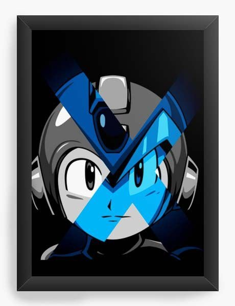 Quadro Decorativo A3 (45X33) Geekz Mega Man - Loja Nerd e Geek - Presentes Criativos