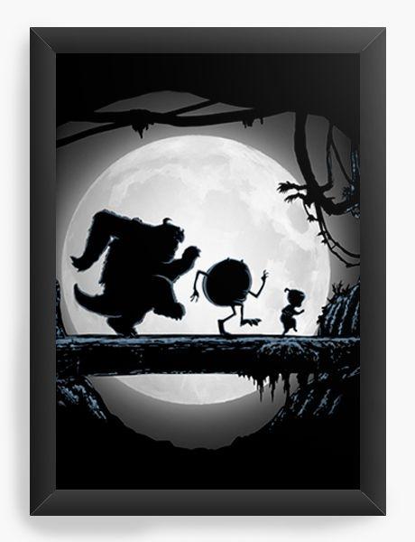 Quadro Decorativo A3 (45X33) Geekz Monstros SA - Loja Nerd e Geek - Presentes Criativos
