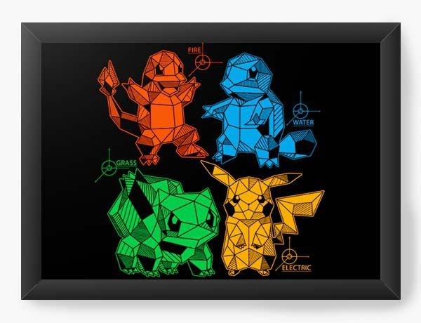Quadro Decorativo A3 (45X33) Geekz Pokemon - Loja Nerd e Geek - Presentes Criativos