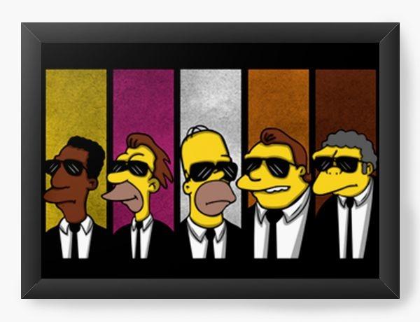 Quadro Decorativo A3 (45X33) Geekz Simpsons 007 - Loja Nerd e Geek - Presentes Criativos
