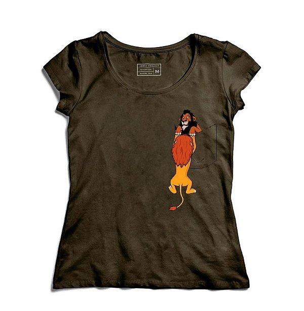 Camiseta Feminina Bolso O Rei - Loja Nerd e Geek - Presentes Criativos