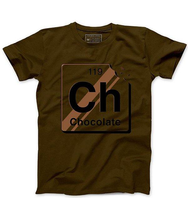 Camiseta Masculina Chocolate  - Loja Nerd e Geek - Presentes Criativos