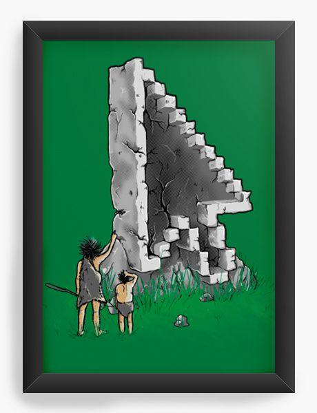 Quadro Decorativo A4 (33X24) Geekz civilização antiga - Loja Nerd e Geek - Presentes Criativos