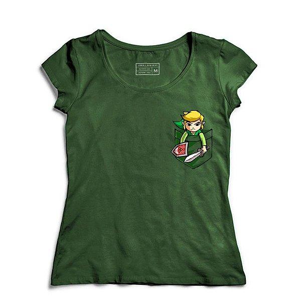 Camiseta Feminina Bolso Elf - Loja Nerd e Geek - Presentes Criativos