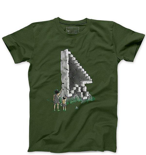 Camiseta Masculina Civilização Antiga - Loja Nerd e Geek - Presentes Criativos