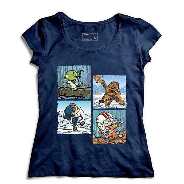 Camiseta Feminina Space Wars Photo - Loja Nerd e Geek - Presentes Criativos