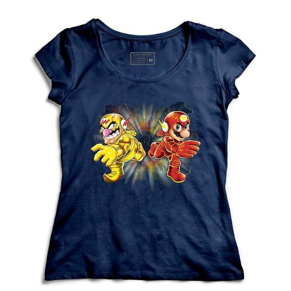Camiseta Feminina Flash Bros - Loja Nerd e Geek - Presentes Criativos