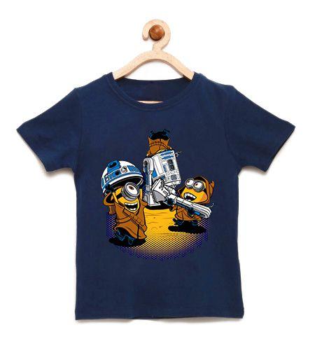 Camiseta Infantil Mini Wars - Loja Nerd e Geek - Presentes Criativos