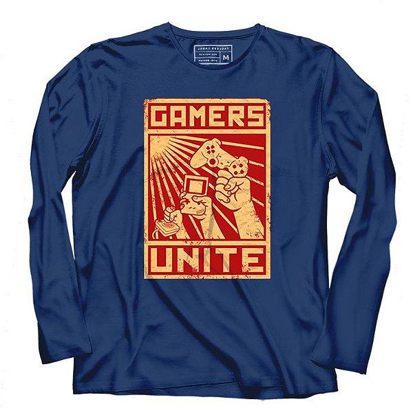Camiseta Manga Gamers- Loja Nerd e Geek - Presentes Criativos