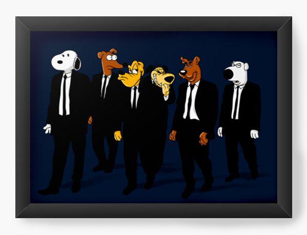 Quadro Decorativo A4 (33X24) Dogs 007 - Loja Nerd e Geek - Presentes Criativos
