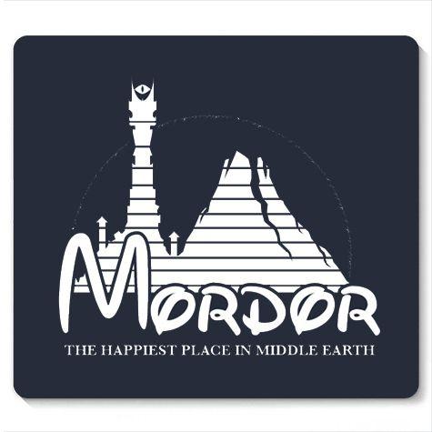 Mouse Pad Mordor - Loja Nerd e Geek - Presentes Criativos