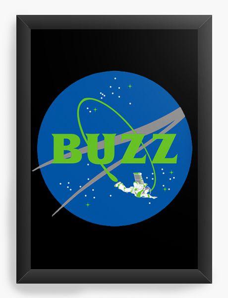 Quadro Decorativo A4 (33X24) Buzz - Loja Nerd e Geek - Presentes Criativos
