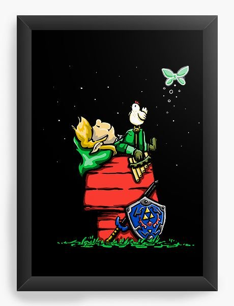Quadro Decorativo A4 (33X24) Legend Of Elf - Loja Nerd e Geek - Presentes Criativos