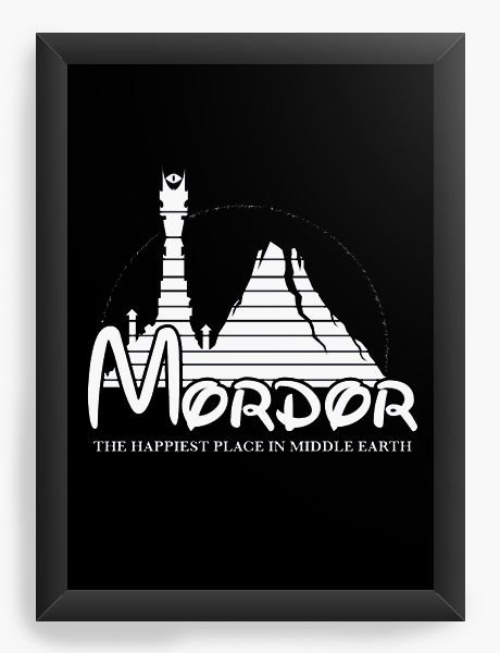 Quadro Decorativo A4 (33X24) Mordor - Loja Nerd e Geek - Presentes Criativos