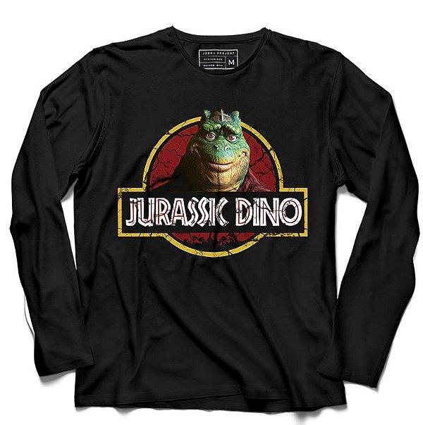 Camiseta Manga Longa Jurassic Dino - Loja Nerd e Geek - Presentes Criativos
