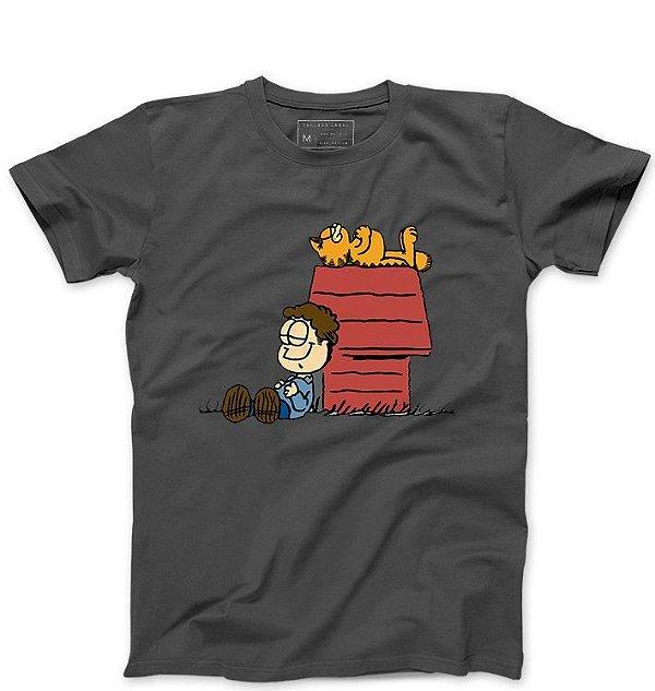 Camiseta Masculina Garfield - Loja Nerd e Geek - Presentes Criativos