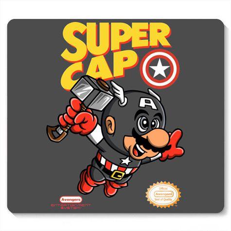 Mouse Pad Super Cap - Loja Nerd e Geek - Presentes Criativos