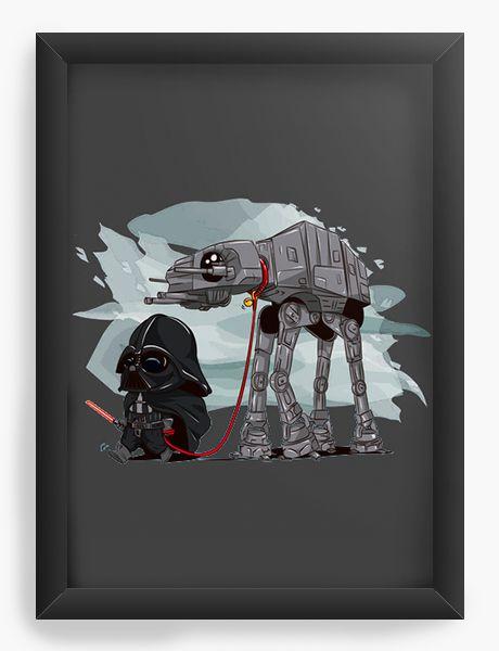 Quadro Decorativo A4 (33X24) Space Wars Evil - Loja Nerd e Geek - Presentes Criativos
