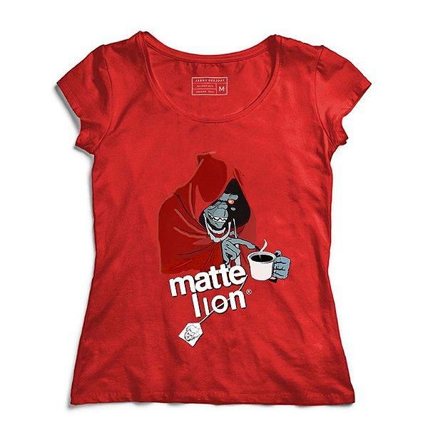 Camiseta Feminina Matte Lion  - Loja Nerd e Geek - Presentes Criativos