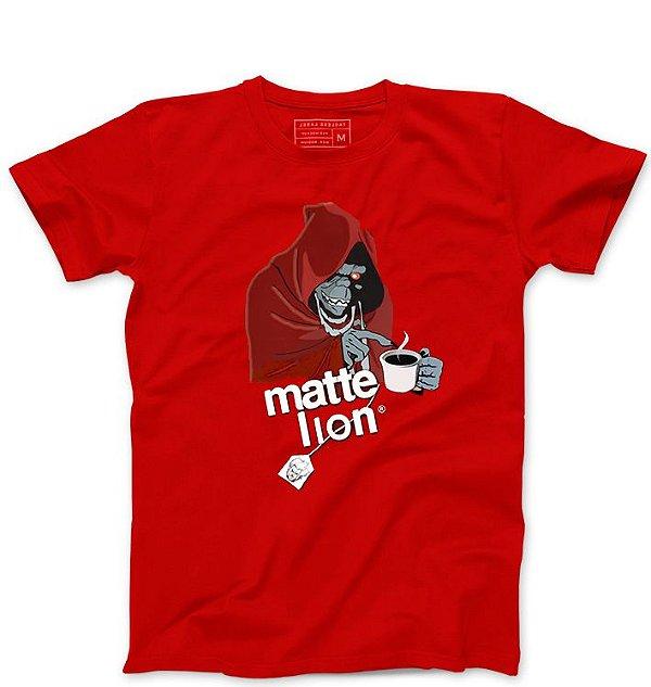 Camiseta Masculina Matte Lion- Loja Nerd e Geek - Presentes Criativos