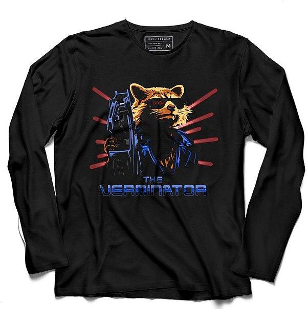 Camiseta Manga Longa Verminator - Loja Nerd e Geek - Presentes Criativos