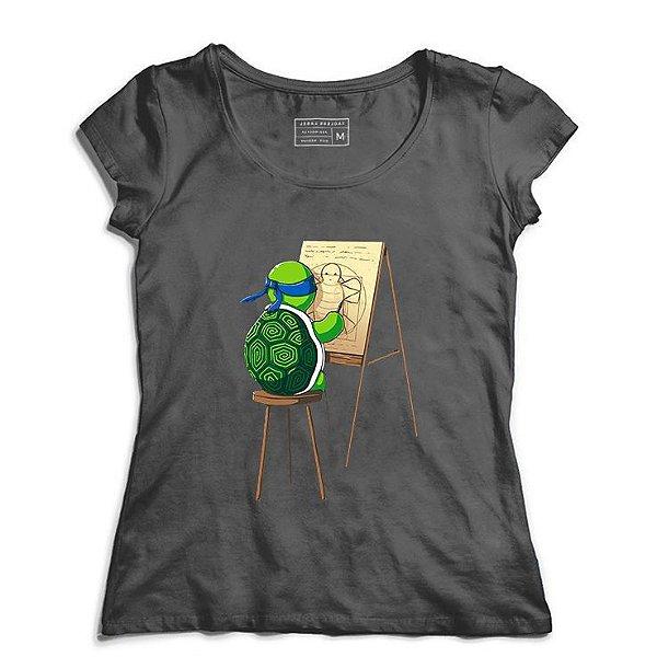 Camiseta Feminina Leonardo - Loja Nerd e Geek - Presentes Criativos