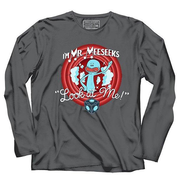 Camiseta Manga Longa Meeseeks - Loja Nerd e Geek - Presentes Criativos
