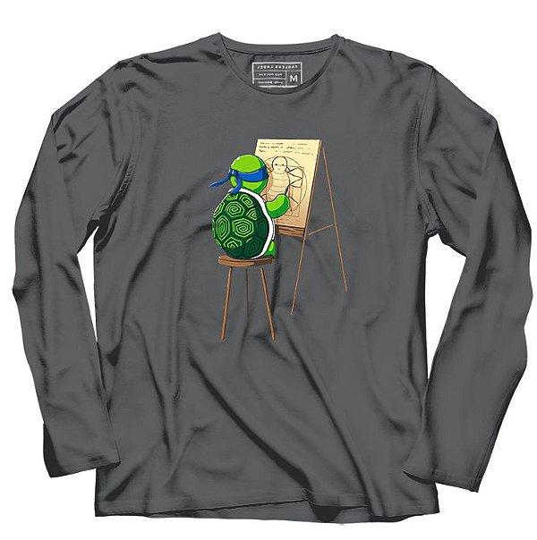 Camiseta Manga Longa Leonardo - Loja Nerd e Geek - Presentes Criativos