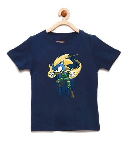Camiseta Infantil Hedgehog  - Loja Nerd e Geek - Presentes Criativos