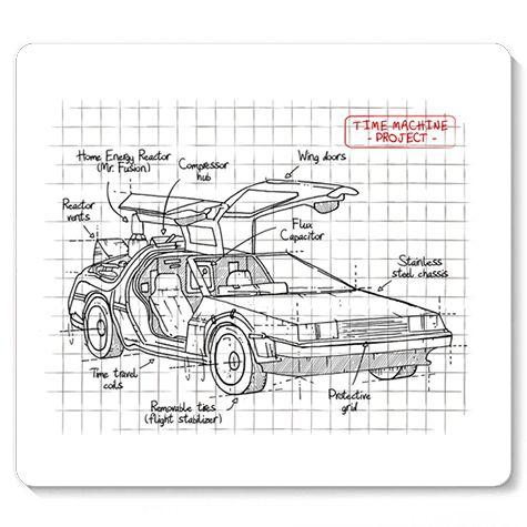 Mouse Pad Carro do Futuro - Loja Nerd e Geek - Presentes Criativos