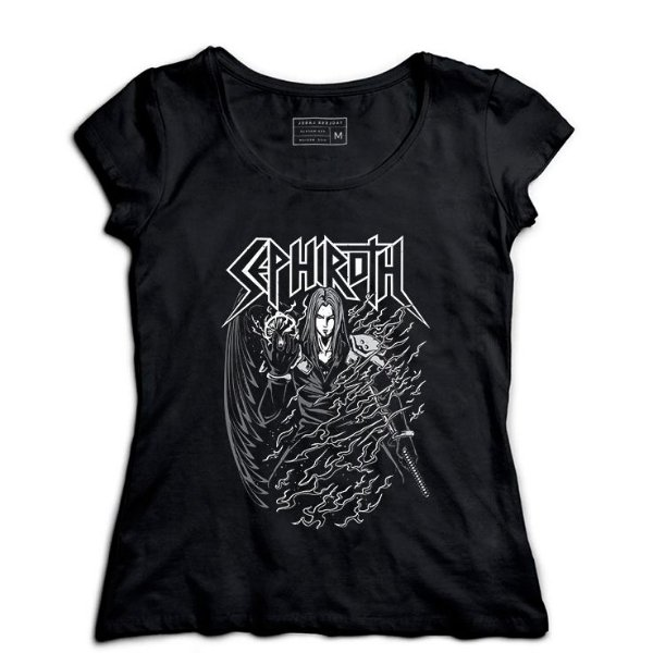 Camiseta Feminina Sephiroth Final Fantasy - Loja Nerd e Geek - Presentes Criativos
