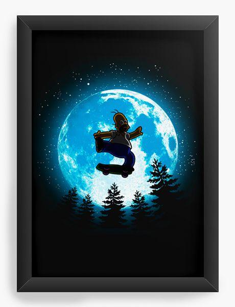 Quadro Decorativo A4 (33X24) Moon - Loja Nerd e Geek - Presentes Criativos