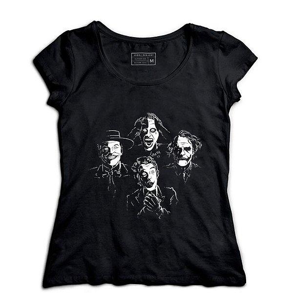 Camiseta Feminina Faces - Loja Nerd e Geek - Presentes Criativos