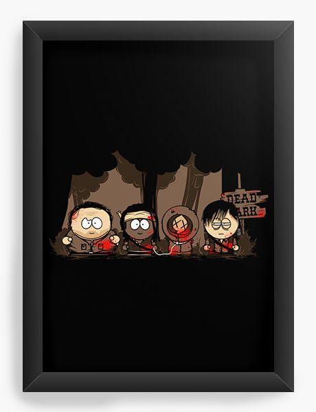 Quadro Decorativo A4 (33X24) South Kill- Loja Nerd e Geek - Presentes Criativos