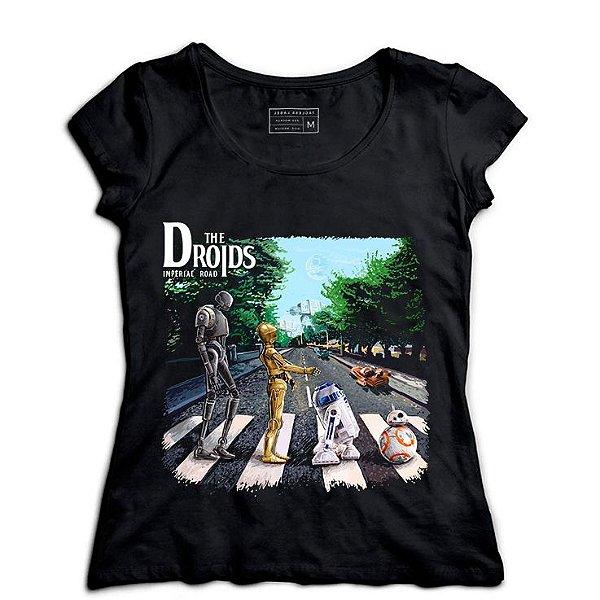 Camiseta Feminina Droids - Loja Nerd e Geek - Presentes Criativos