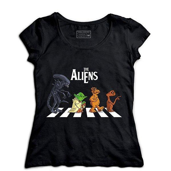 Camiseta Feminina Aliens - Loja Nerd e Geek - Presentes Criativos
