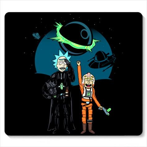 Mouse Pad Space Rick and Morty  - Loja Nerd e Geek - Presentes Criativos