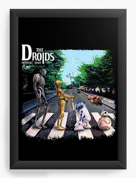 Quadro Decorativo A4 (33X24) Droids - Loja Nerd e Geek - Presentes Criativos
