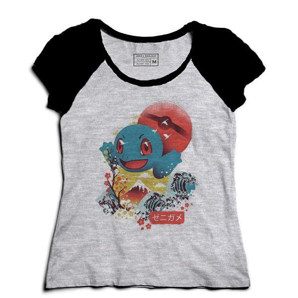 Camiseta Feminina Raglan Mescla Lets Go - Loja Nerd e Geek