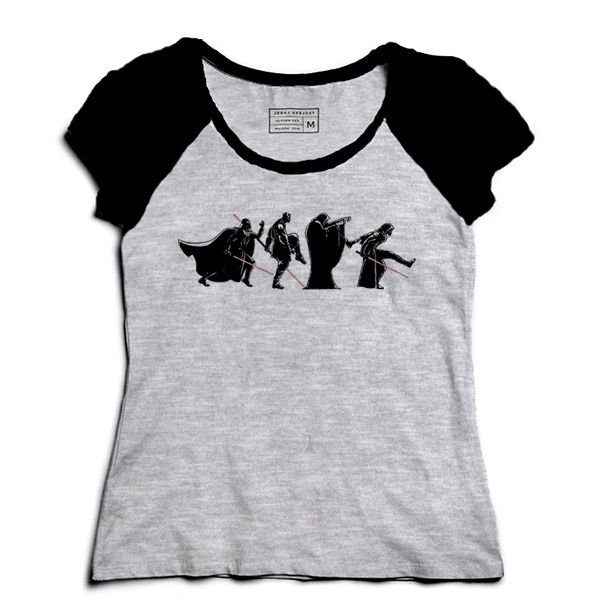 Camiseta Feminina Raglan Mescla Space Wars: Road - Loja Nerd e Geek