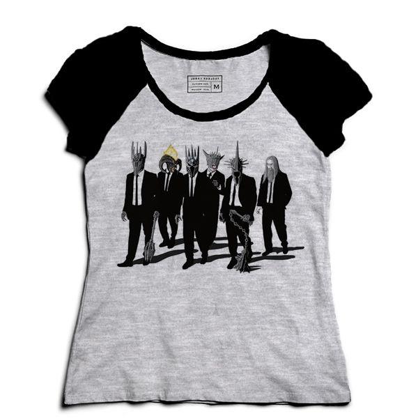 Camiseta Feminina Raglan Mescla Ring Nightmare - Loja Nerd e Geek