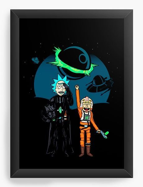 Quadro Decorativo A3 (45X33) Space Rick and Morty - Loja Nerd e Geek - Presentes Criativos