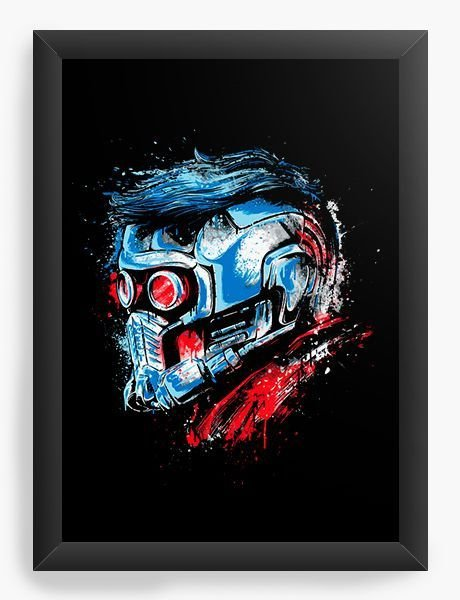 Quadro Decorativo A3 (45X33) Guardian Star Lord - Loja Nerd e Geek - Presentes Criativos