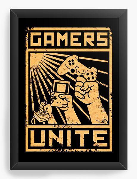 Quadro Decorativo A3 (45X33) Gamers - Loja Nerd e Geek - Presentes Criativos